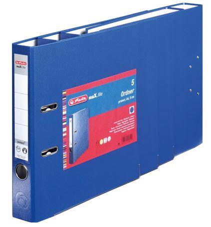 Vorschau: Herlitz 9942590 - A4 - Polypropylen (PP) - Blau - 5 cm - 5 Stück(e)