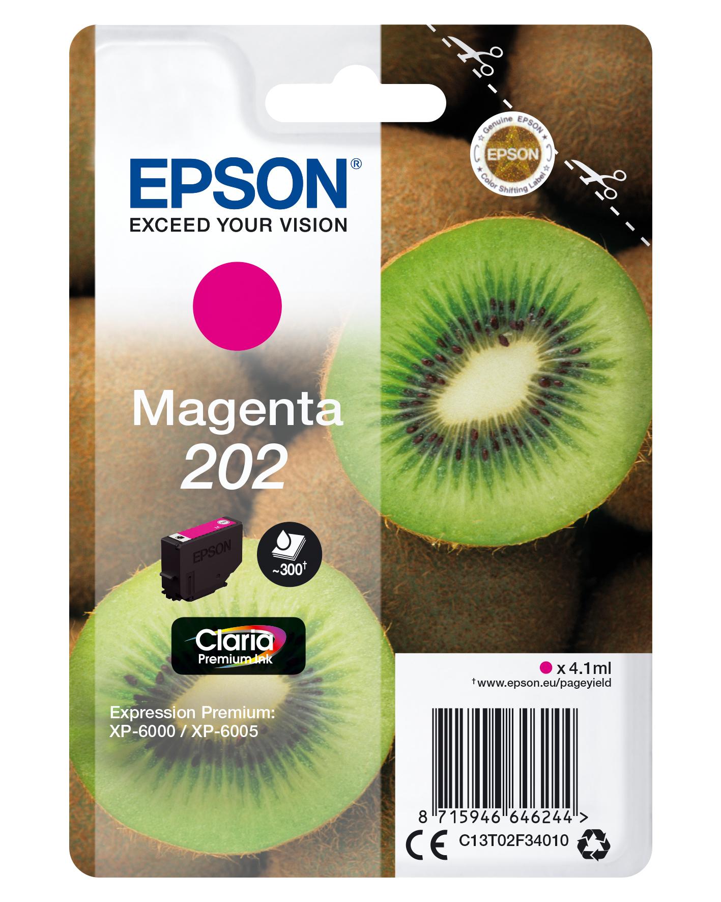 Epson-C13T02F34020-Kiwi-Singlepack-Magenta-202-Claria-Premium-Ink-Original thumbnail 2