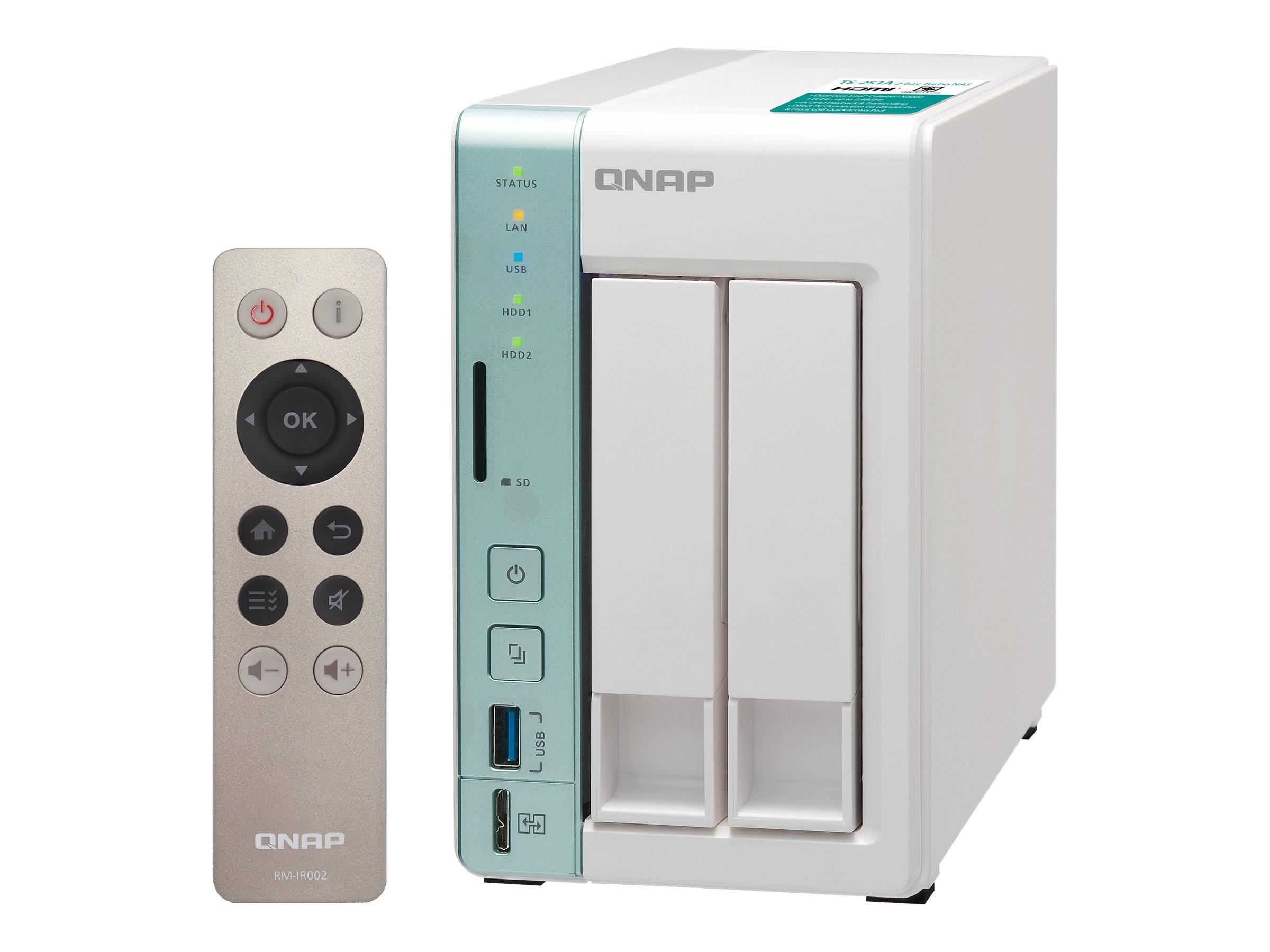 QNAP TS-251A-2G - NAS-Server - 2 Schächte
