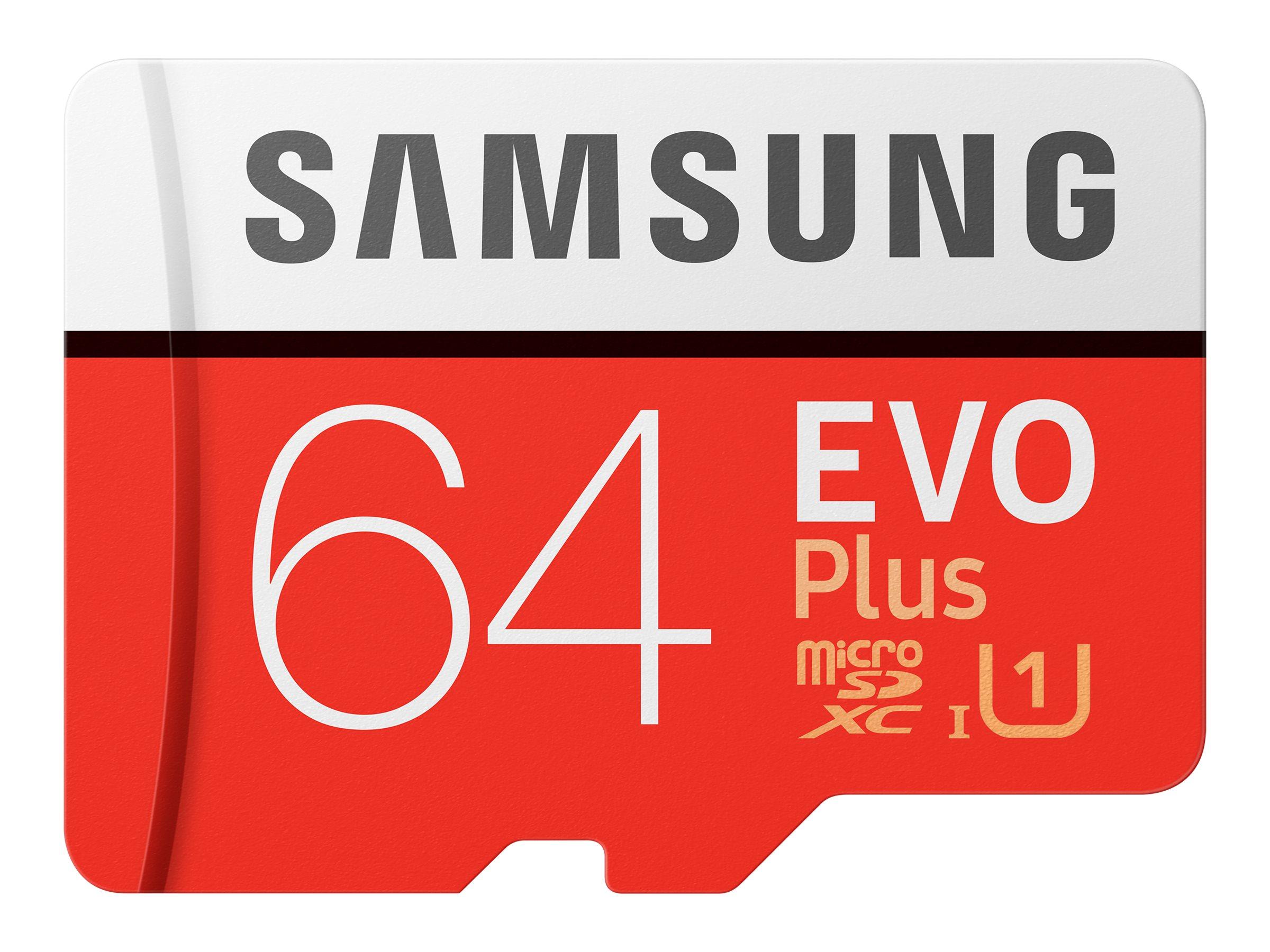 Samsung EVO Plus MB-MC64HA - Flash-Speicherkarte (microSDXC-an-SD-Adapter inbegriffen)