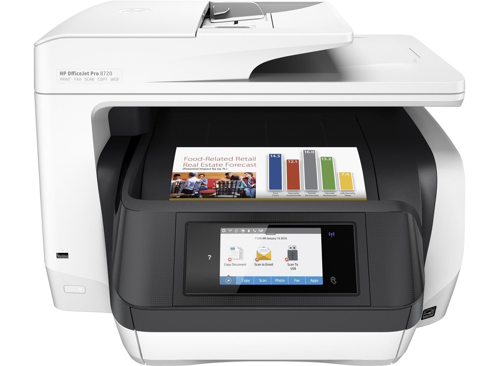 HP OfficeJet Pro 8720 e-All-in-One, Tinte, MFP, A4