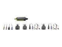 2-Port-Kabel-KVM-Switch - DVI - USB - Audio