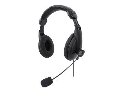 Manhattan Stereo Over-Ear Headset (USB), Microphone Boom (padded)