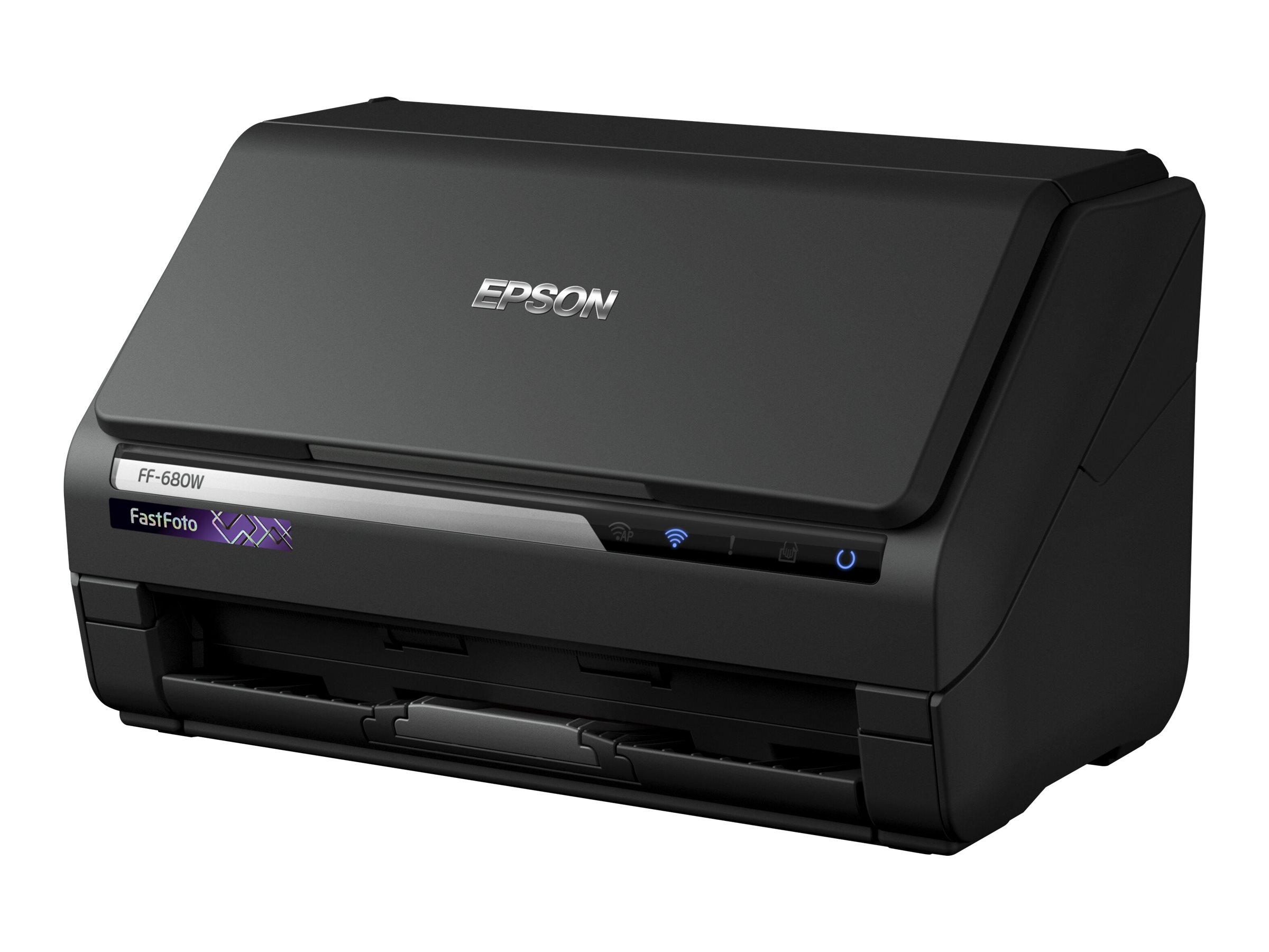 Epson FastFoto FF-680W - Dokumentenscanner - Duplex - A4 - 600 dpi x 600 dpi - bis zu 45 Seiten/Min. (einfarbig)