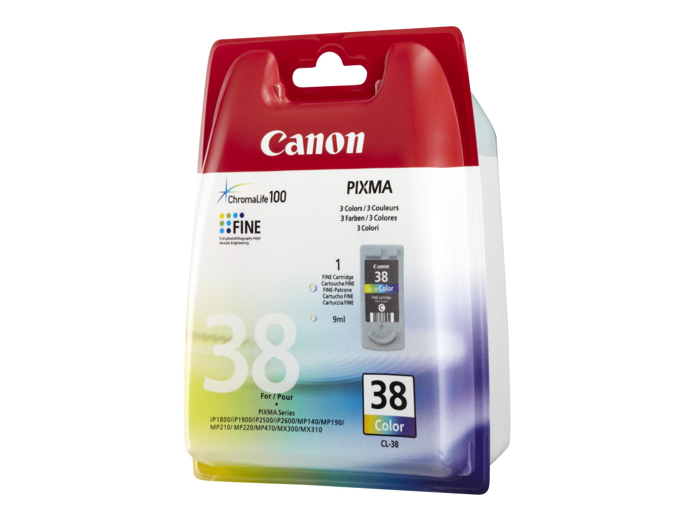 Canon CL-38 - 9 ml - Farbe (Cyan, Magenta, Gelb)