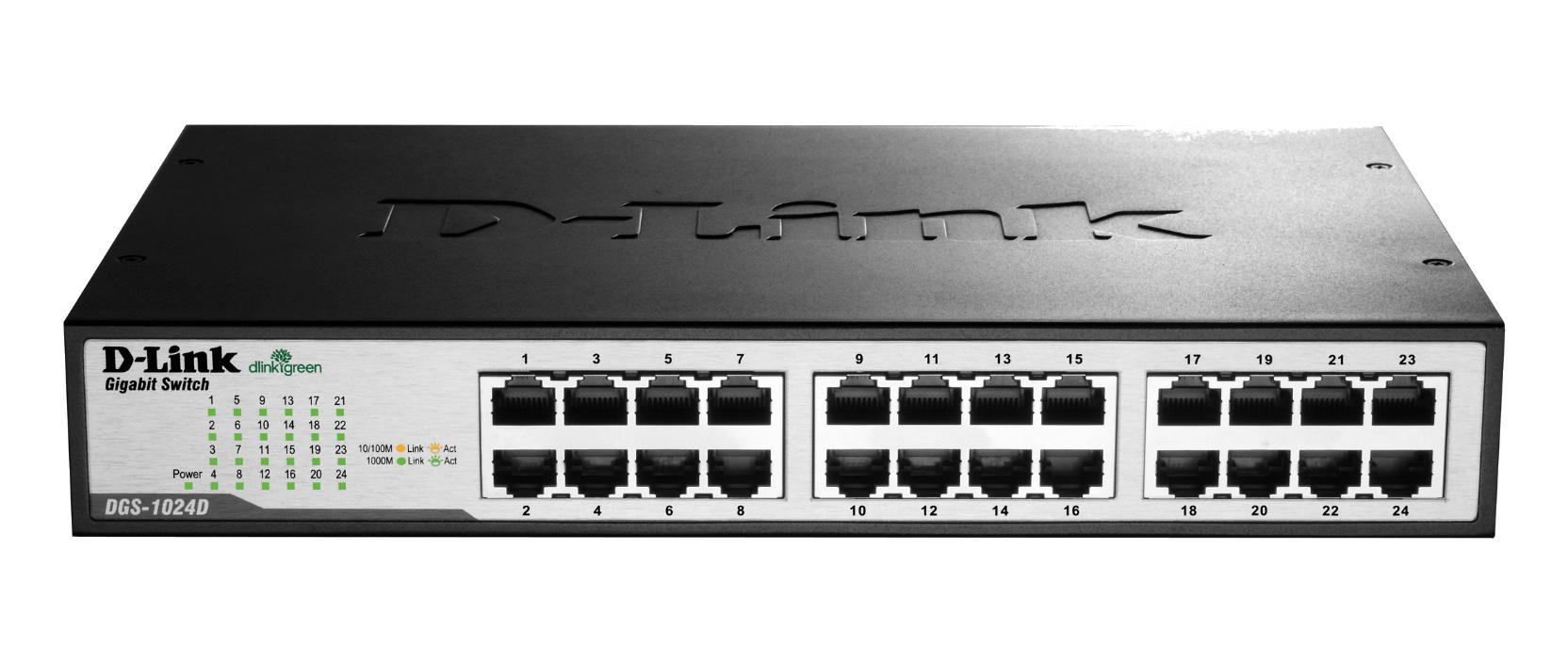 D-Link DGS 1024D - Switch - Kupferdraht 1.000 Mbps - 24-Port 3 HE - Rack-Modul