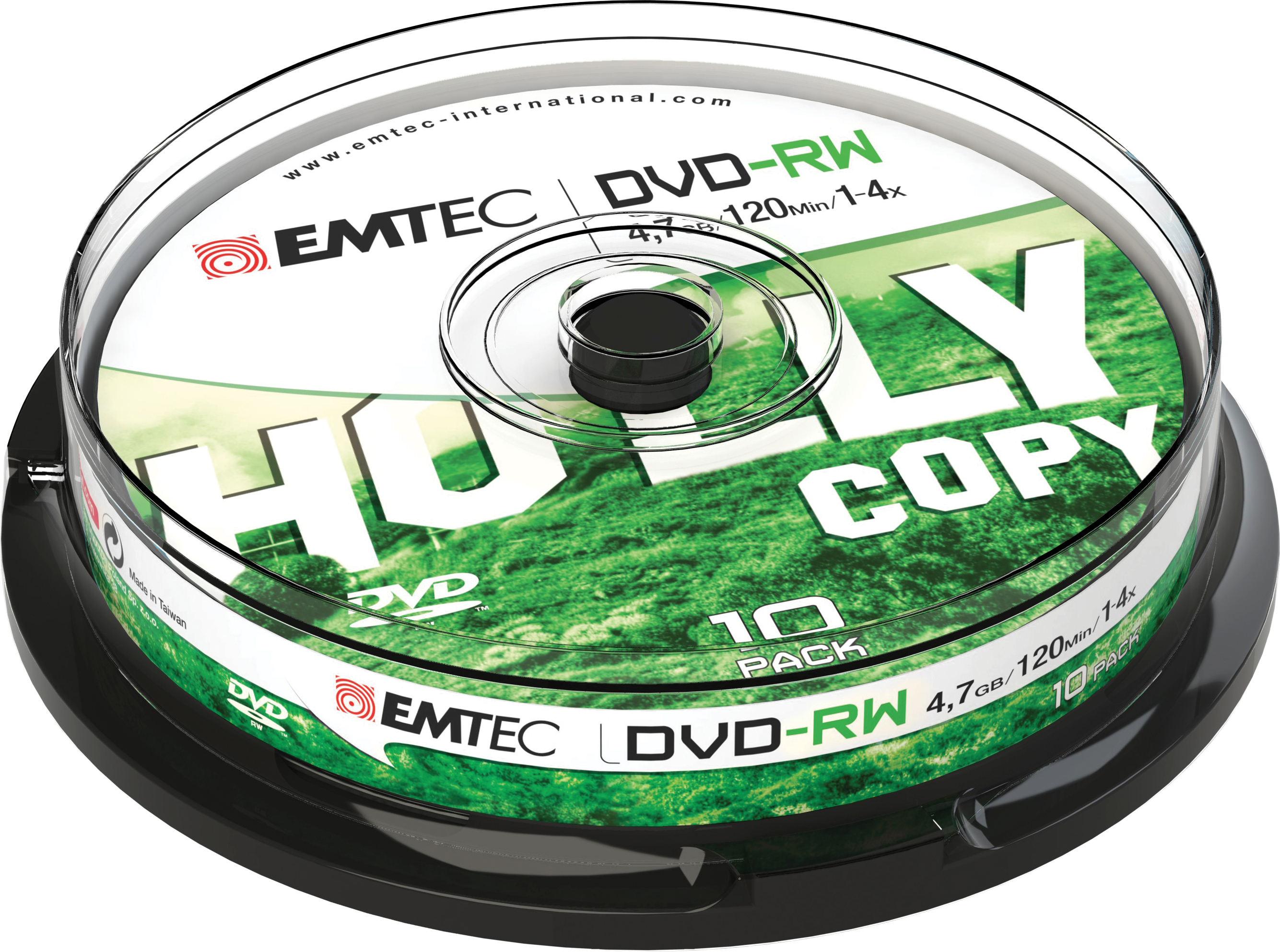 EMTEC 10 x DVD-RW - 4.7 GB (120 Min.) 4x