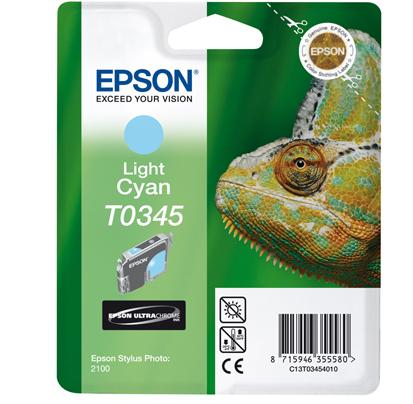Epson T0345 - Druckerpatrone - 1 x pigmentiertes helles Zyan