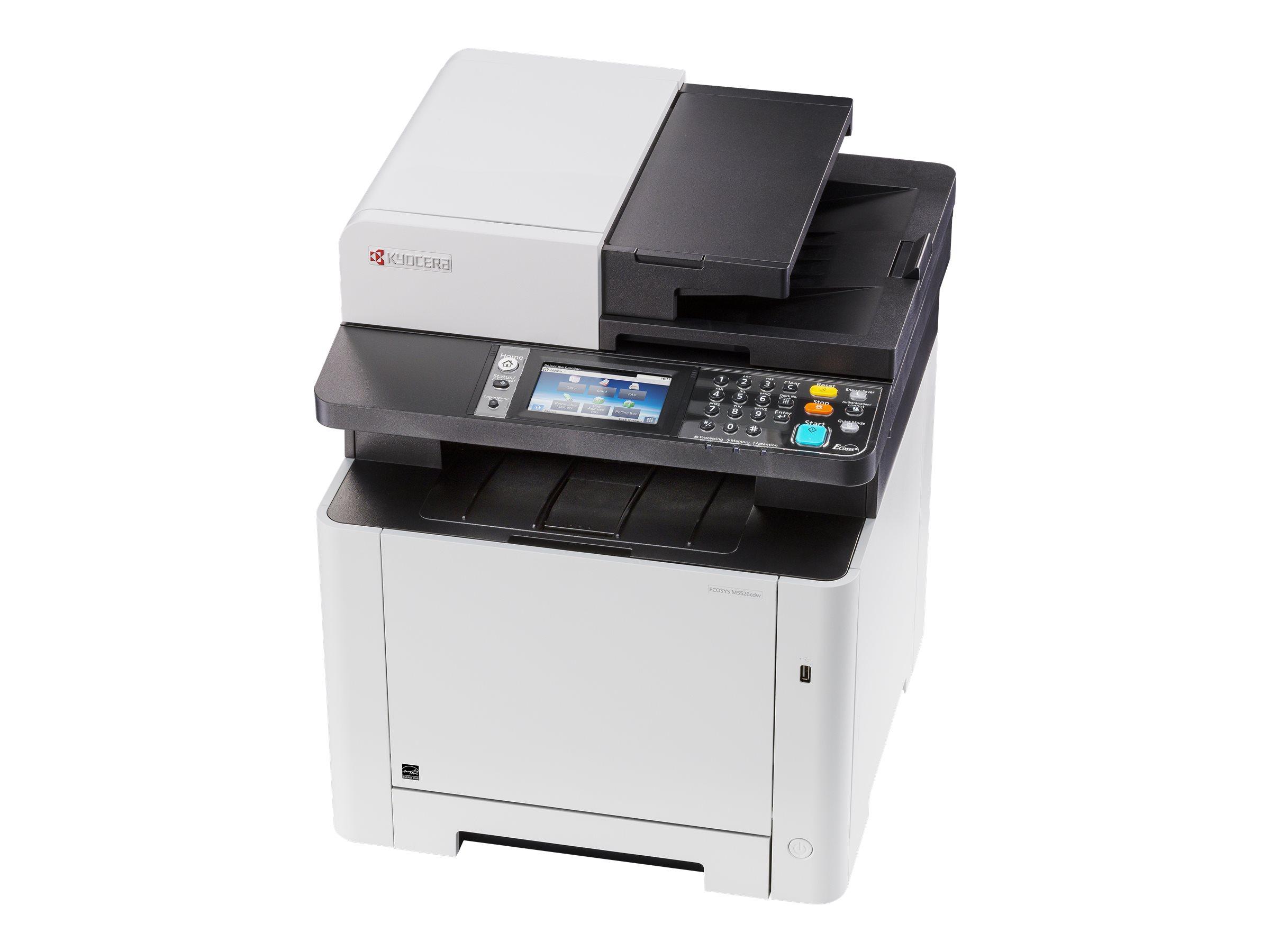 Kyocera ECOSYS M5526cdw/KL3 - Multifunktionsdrucker - Farbe - Laser - A4 (210 x 297 mm)