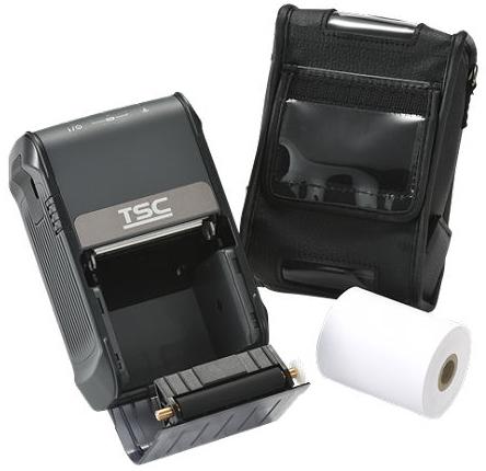TSC Alpha-2R - Direkt Wärme - Mobiler Drucker - 203 x 203 DPI - 4 ips - 102 mm/sek - 1D - 2D - AZTECCODE - CODABAR (NW-7) - Code 128 (A/B/C) - Code 39 - Datenmatrix - EAN128 - EAN13 - EAN8,...