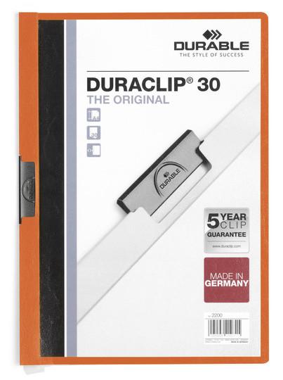Durable DURACLIP 30 A4 - Orange - Weiß - PVC - 30 Blätter - A4 - 1 Stück(e)