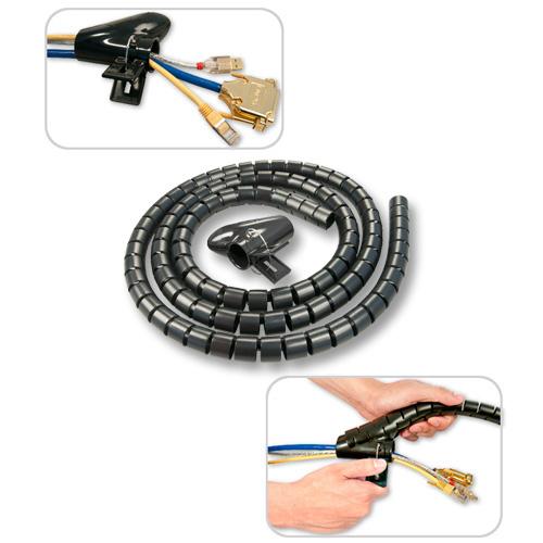 Lindy Spiral Cable Tidy - Flexible Kabelleitung - Schwarz