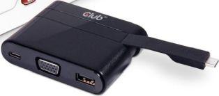 Club 3D USB Typ C auf VGA + USB 3.0 + USB Typ C Charging Mini Dock