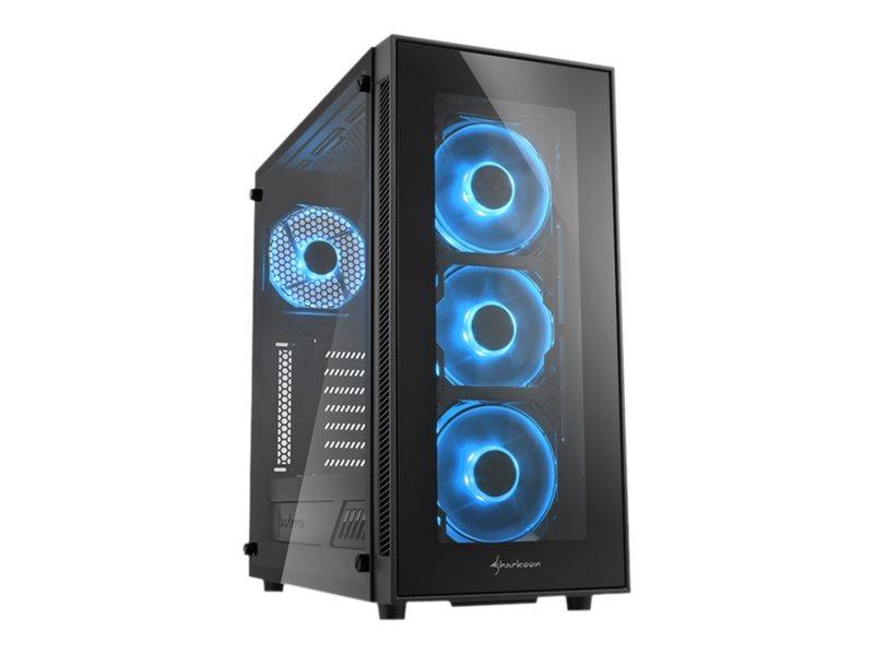 Sharkoon TG5 - Tower - ATX - ohne Netzteil - Blau
