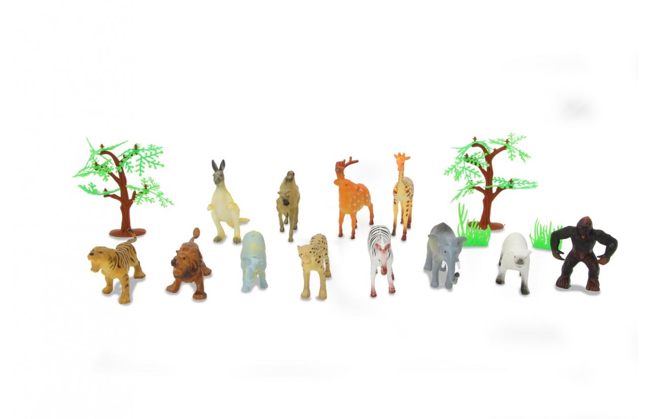 JAMARA Wild Animals Set - 16 Stück(e) - Junge/Mädchen - 3 Jahr(e) - Kunststoff - Mehrfarben