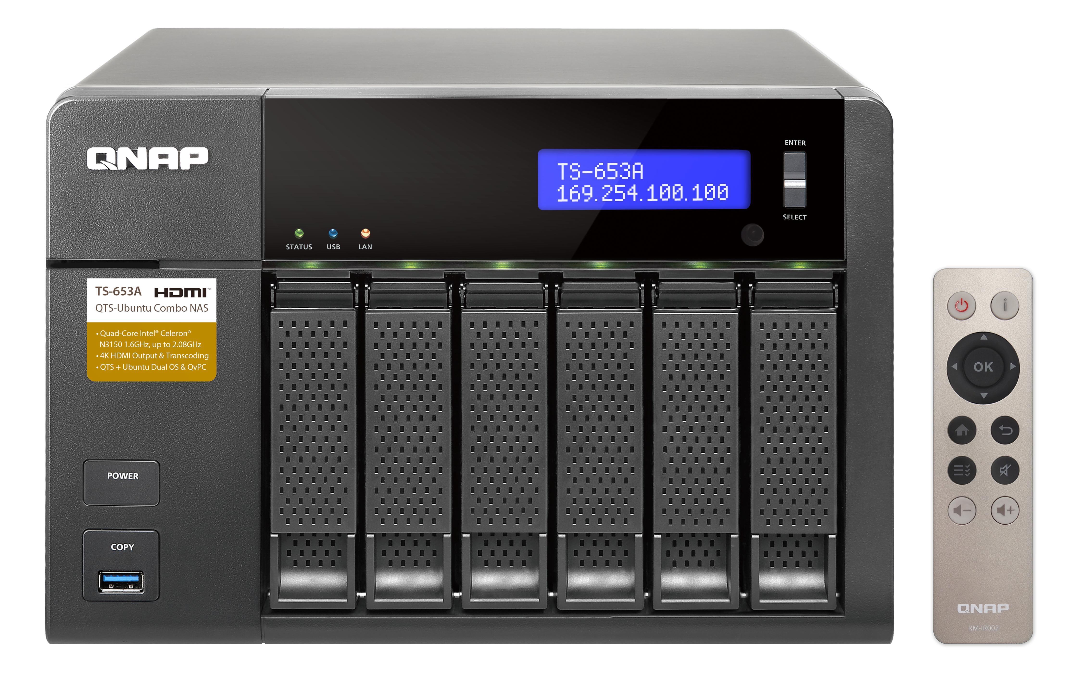 QNAP TS-653A - NAS-Server - 6 Schächte