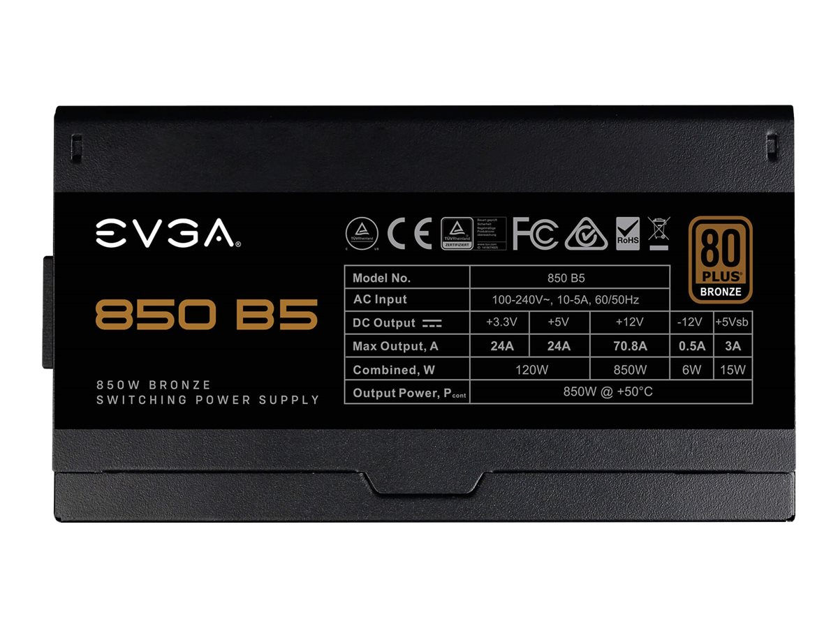 Vorschau: EVGA 850 B5 - Netzteil (intern) - ATX12V / EPS12V