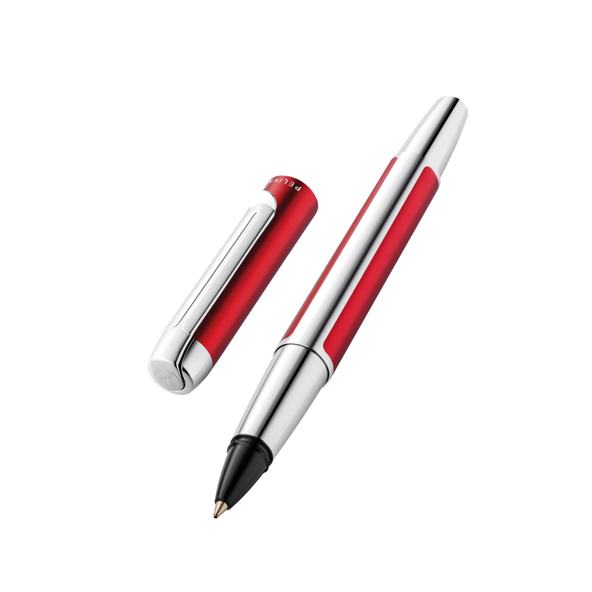Pelikan Pura R40 - Stick Pen - Bordeaux - Silber - Schwarz - Aluminium - Medium - Deutschland