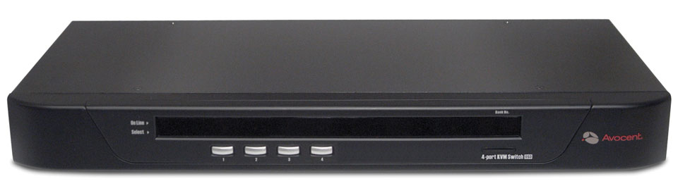 Avocent SwitchView 1000 4-Port KVM-Umschalter - PS/2, USB