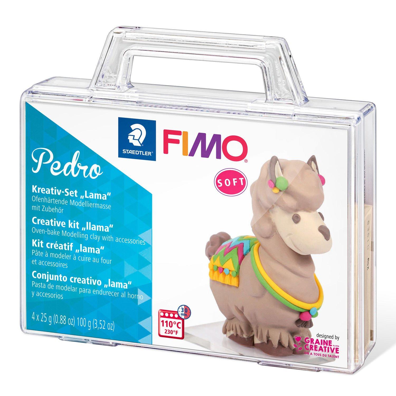 STAEDTLER FIMO Pedro - Modellierton - Beige - Blau - Violett - Gelb - 4 Stück(e) - 4 Farben - 110 °C - 30 min