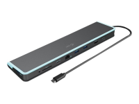 USB-C Flat Docking Station + Power Delivery 60W