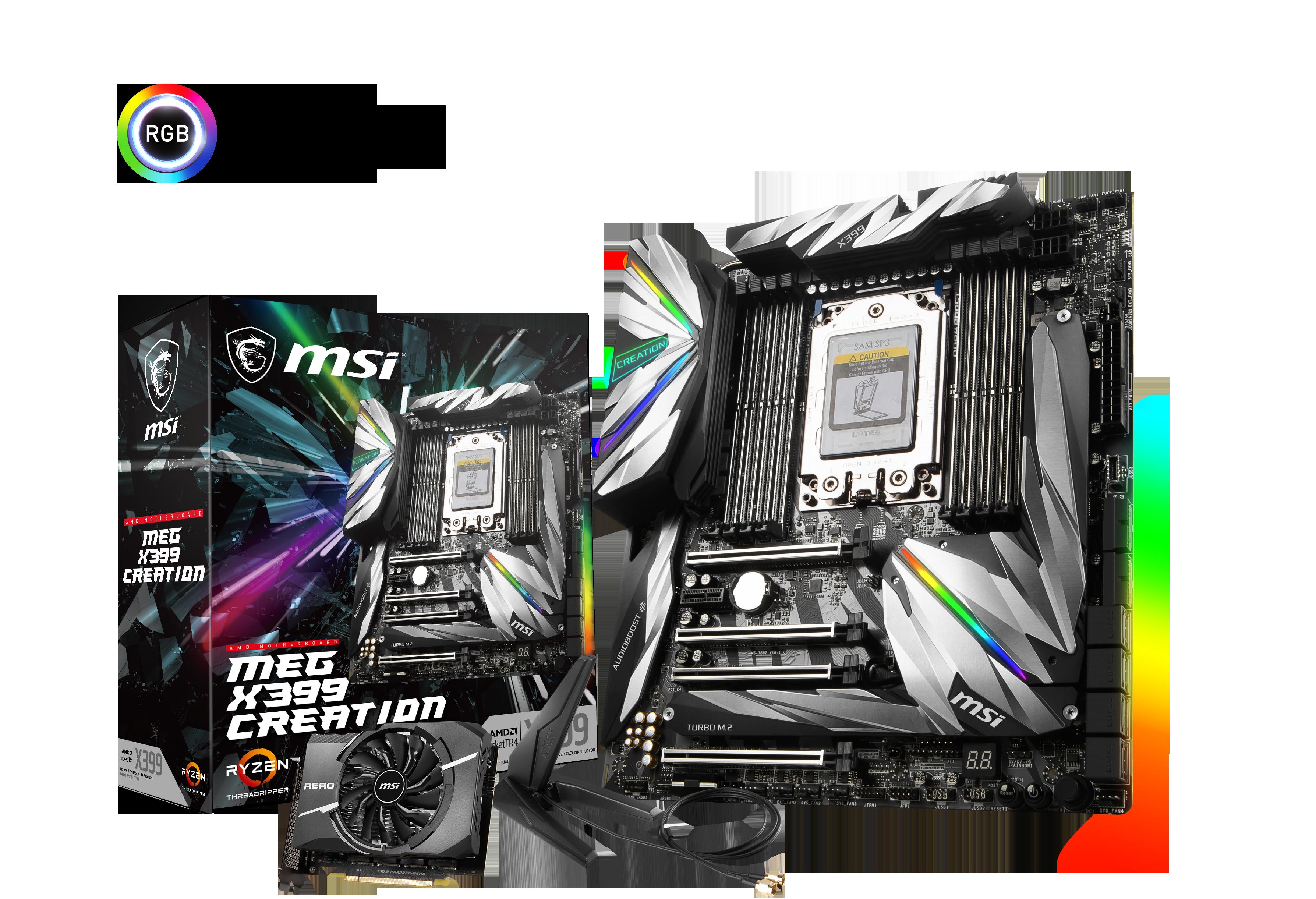 MSI MEG X399 CREATION - Mainboard - EATX