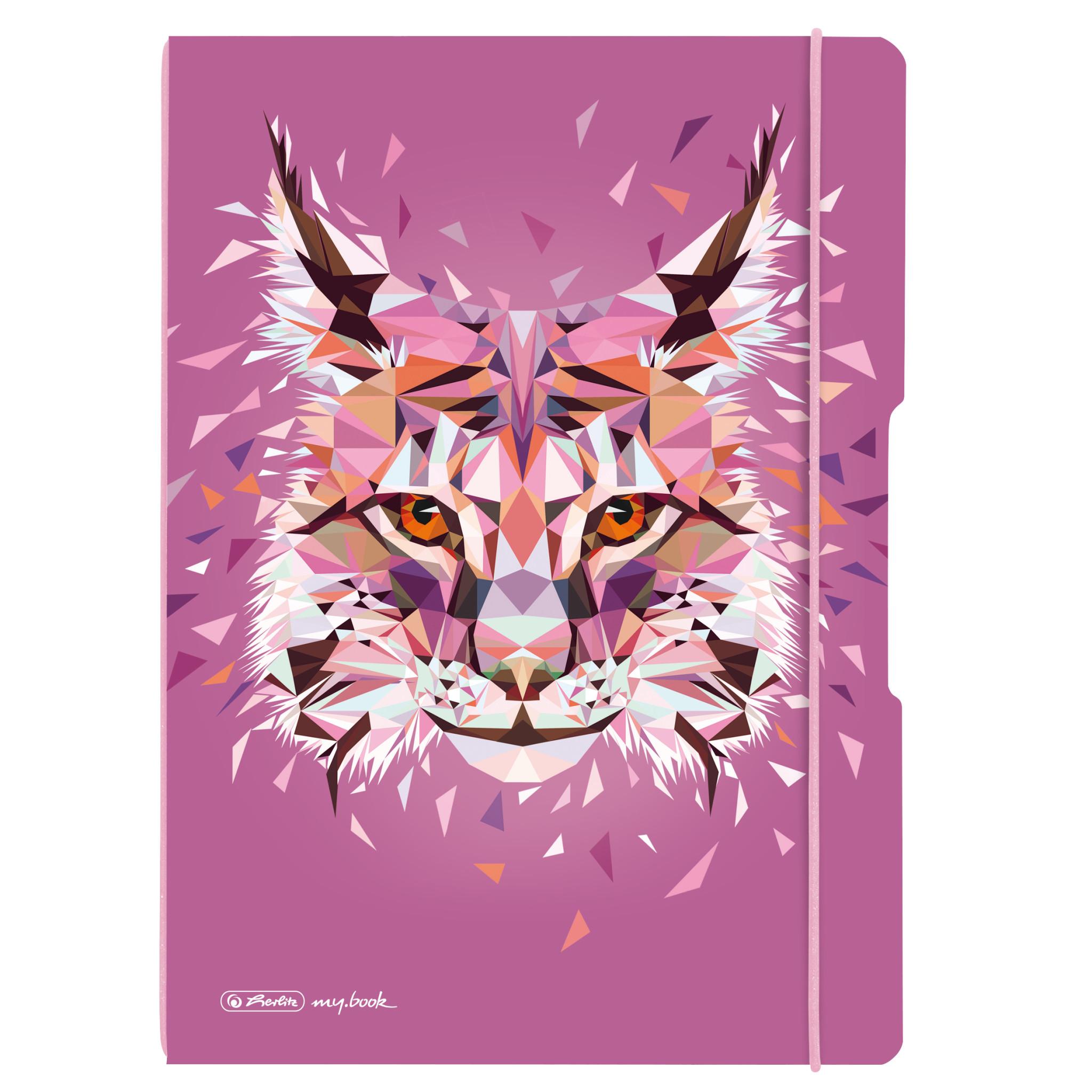 Vorschau: Herlitz 50027279 - Abbildung - Pink - A4 - 80 Blätter - 80 g/m² - Kariertes Papier