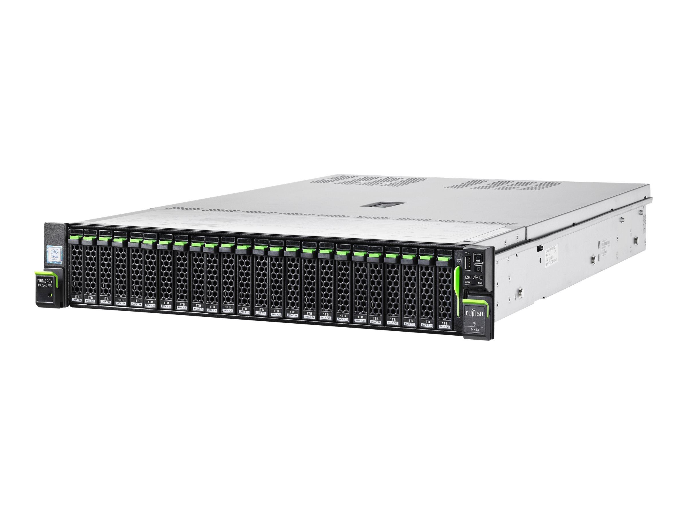 """Fujitsu PRIMERGY RX2540 M5 - Server - Rack-Montage - 2U - zweiweg - 1 x Xeon Silver 4208 / 2.1 GHz - RAM 16 GB - SAS - Hot-Swap 6.4 cm (2.5"""")"""