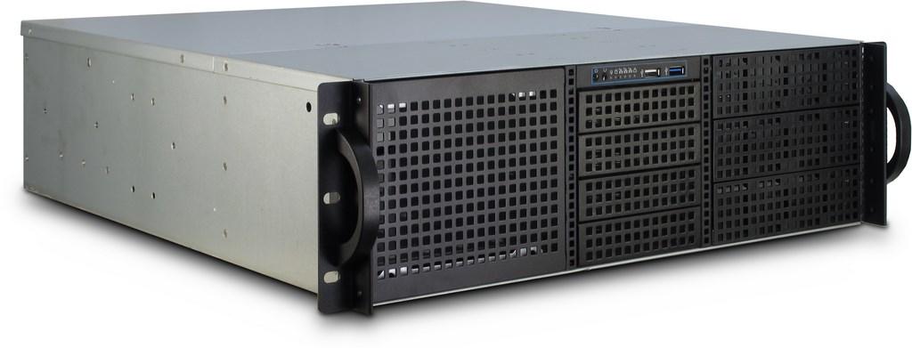 Inter-Tech 3U-30248 - Rack - Server - Stahl - Schwarz - Edelstahl - ATX,CEB,EATX,Micro ATX,Mini-ATX,Mini-ITX - 3U
