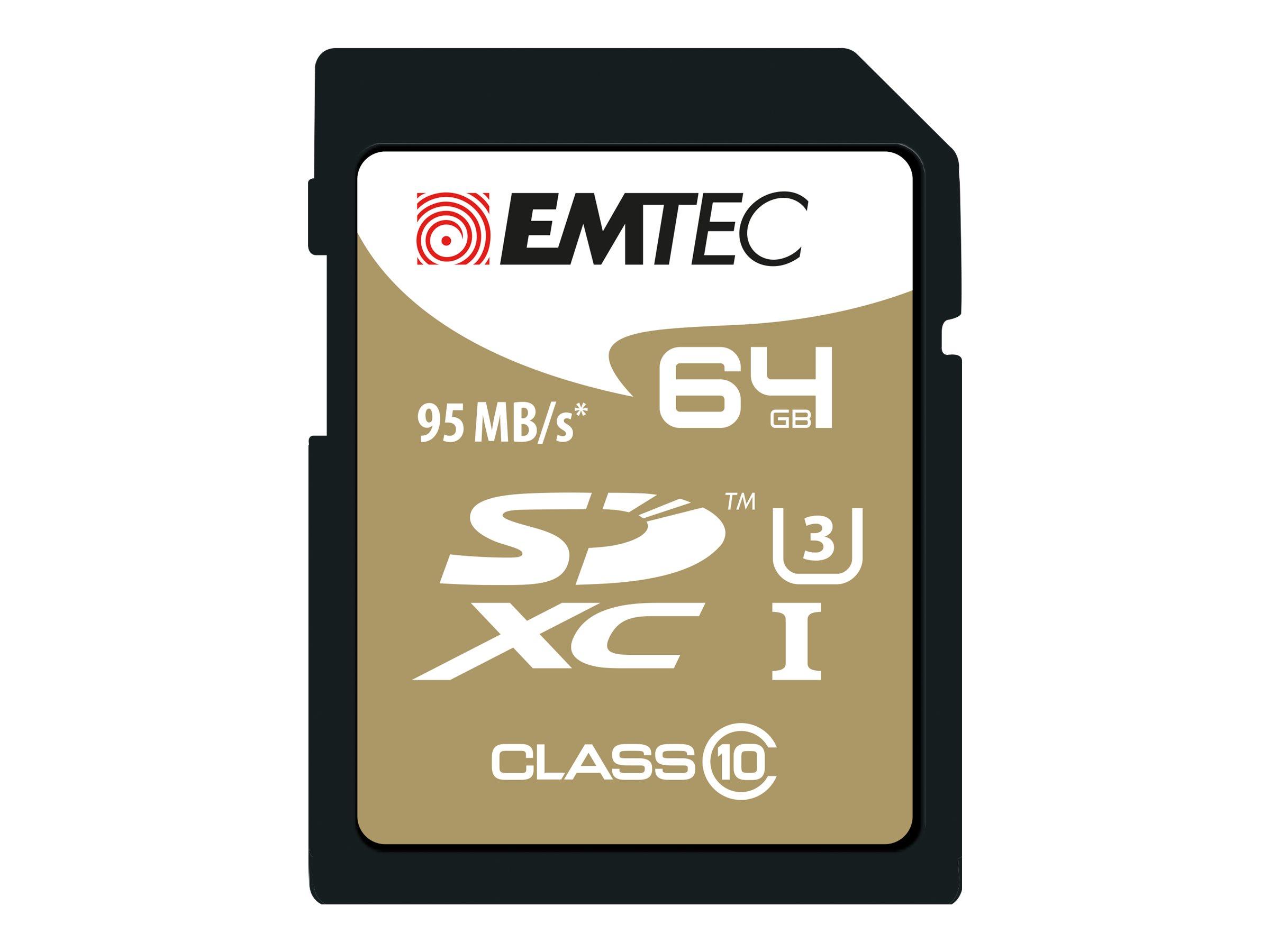 EMTEC SpeedIN' - Flash-Speicherkarte - 64 GB