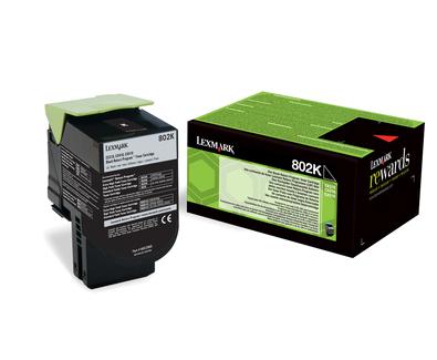 Lexmark 802K Laser cartridge 1000Seiten Schwarz