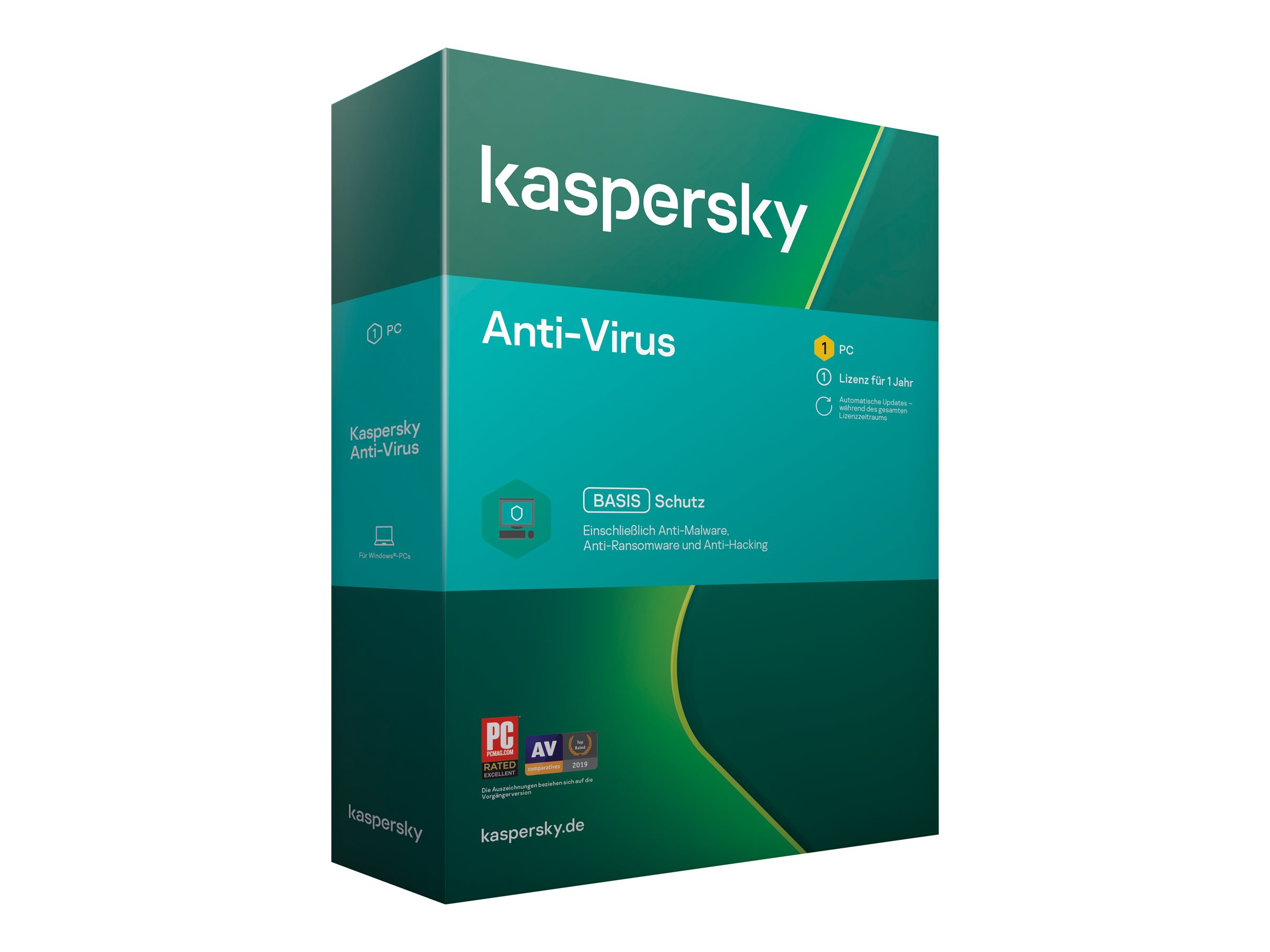 Kaspersky Anti-Virus 2020 - Box-Pack (1 Jahr) - 1 PC (Mini-Box)