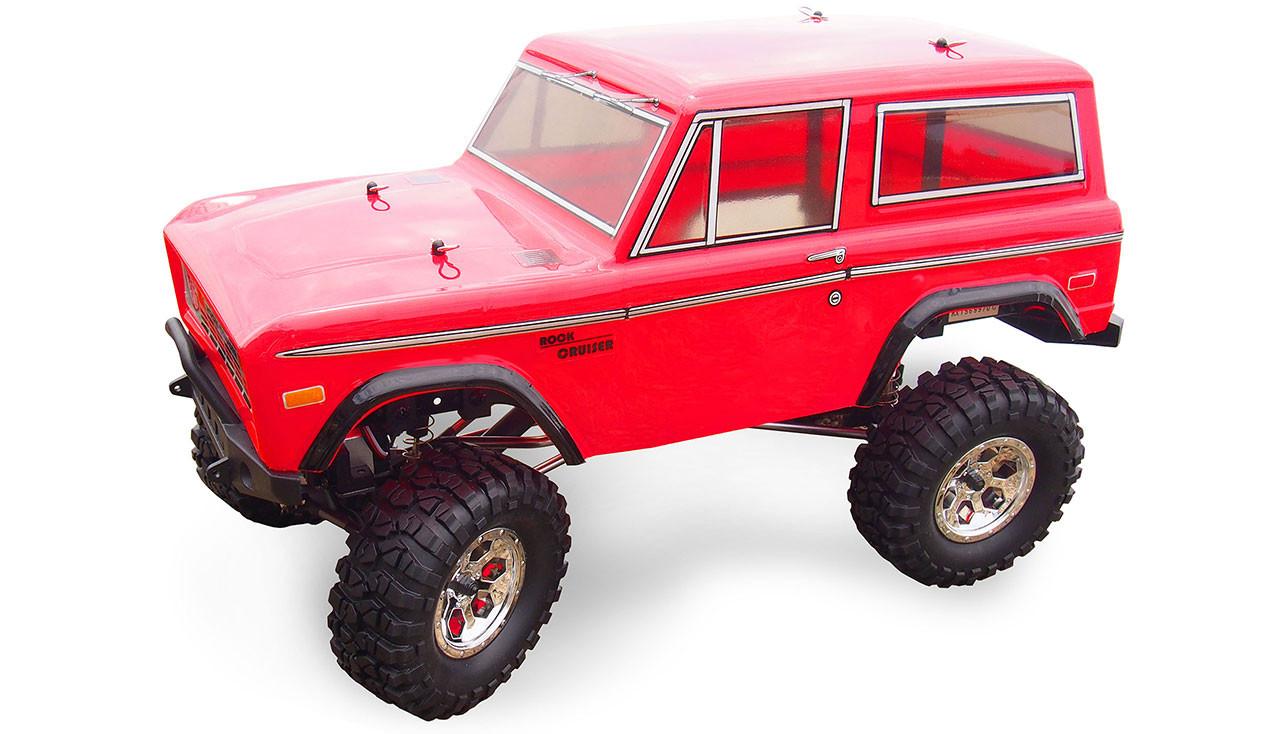 Amewi AMXRock Rock Cruiser - Off-Road-Wagen - Elektromotor - 1:10 - Betriebsbereit (RTR) - Rot - Ford Bronco