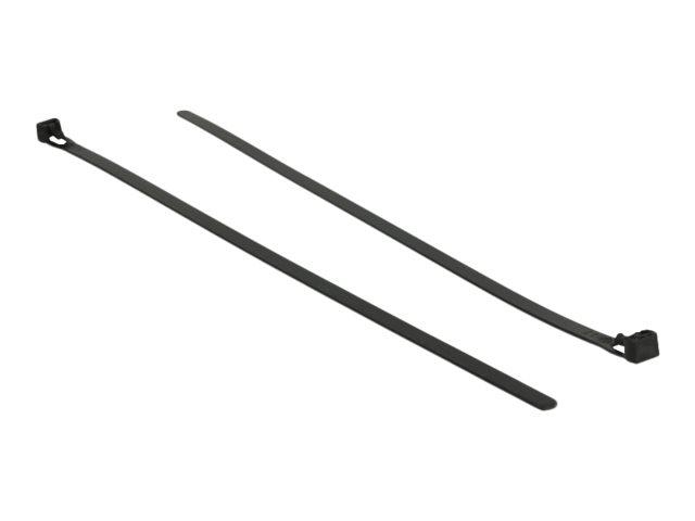 Delock Kabelbinder - 30 cm - Schwarz (Packung