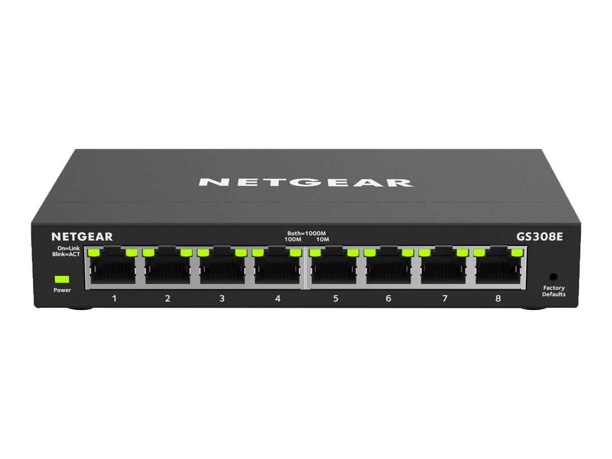 Netgear GS308E - Switch - Smart - 8 x 10/100/1000