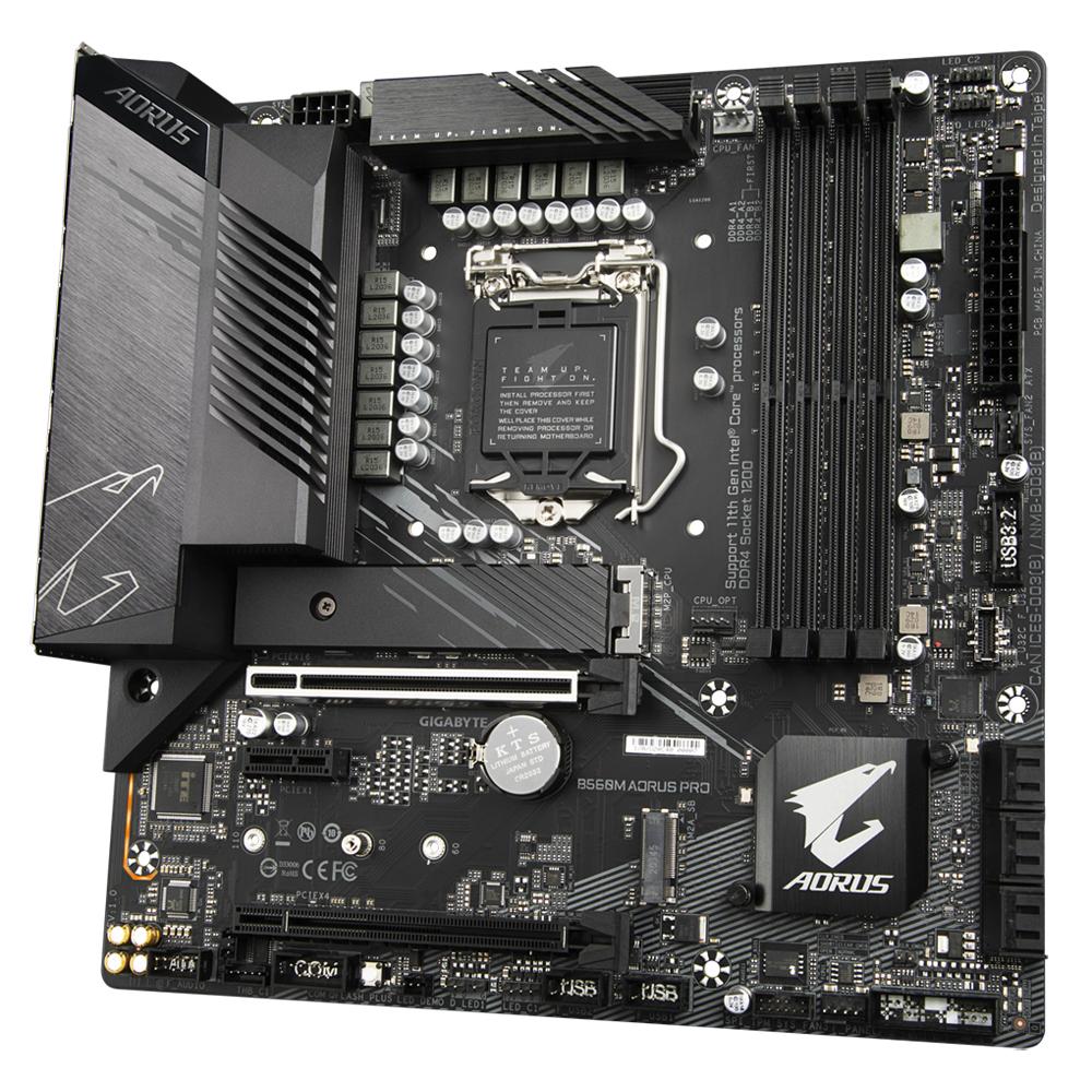 Gigabyte B560M AORUS PRO - 1.0 - Motherboard - micro ATX - LGA1200-Sockel - B560 - USB-C Gen1, USB 3.2 Gen 1, USB 3.2 Gen 2, USB-C Gen 2x2 - 2.5 Gigabit LAN - Onboard-Grafik (CPU erforderlich)