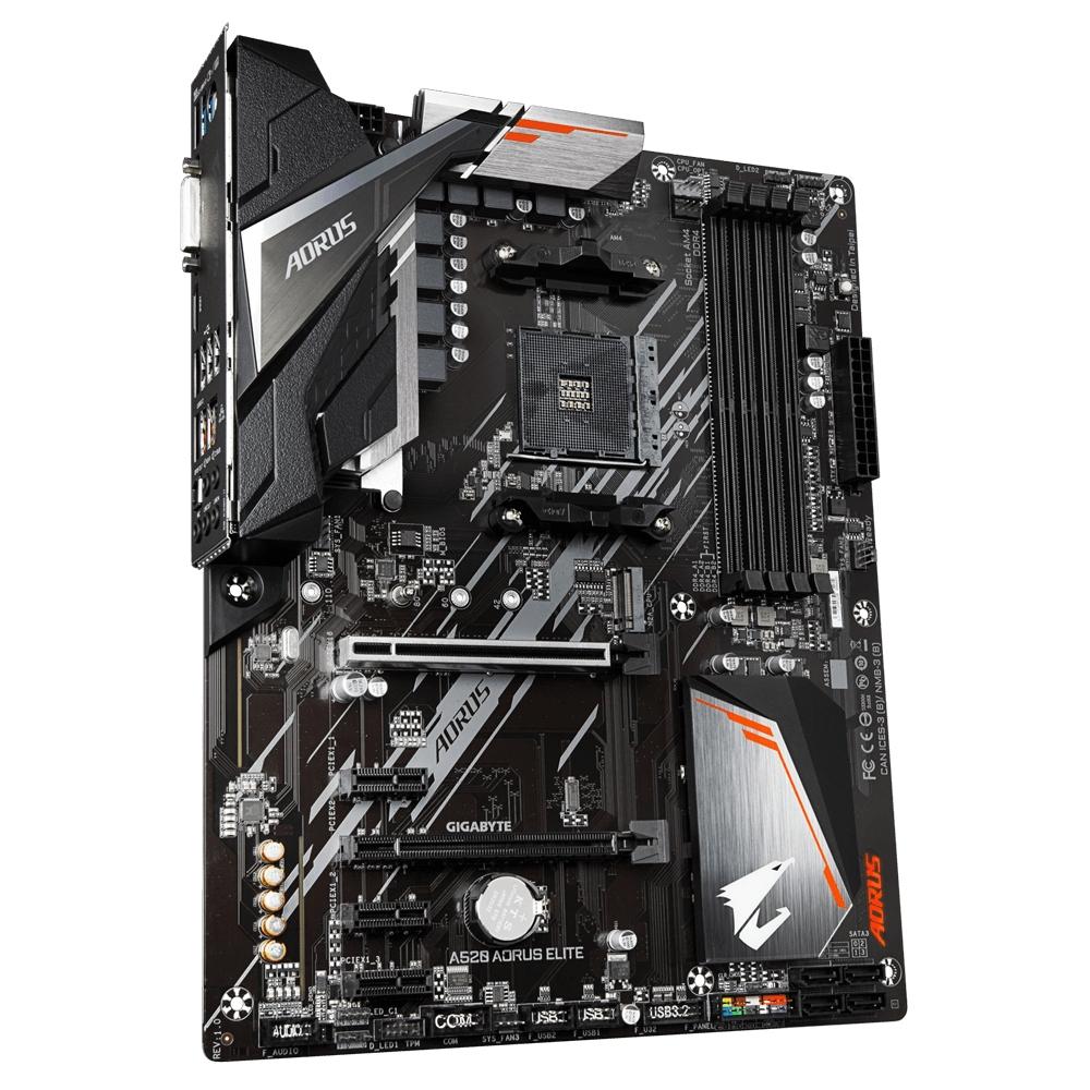 Gigabyte A520 AORUS ELITE - AMD - Socket AM4 - AMD Ryzen 3 3rd Gen - 3rd Generation AMD Ryzen 5 - 3rd Generation AMD Ryzen 7 - 3rd Generation AMD... - Socket AM4 - DDR4-SDRAM - DIMM