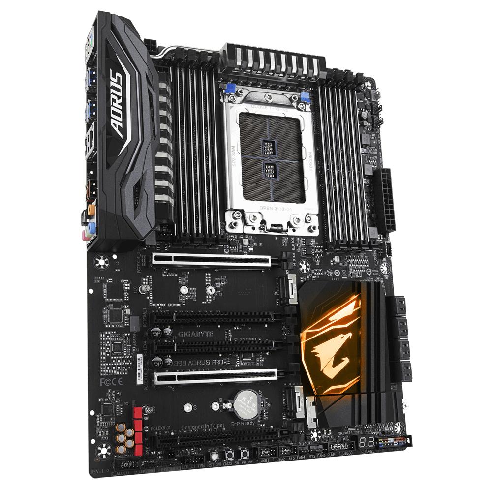 Gigabyte X399 AORUS PRO (rev. 1.0) - AMD - Socket TR4 - AMD Ryzen - Socket TR4 - DDR4-SDRAM - DIMM