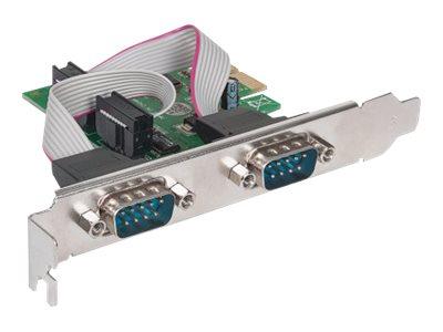 Manhattan Serielle PCI-Express-Karte, Zwei DB9-Ports, geeignet für PCI Express x1, x4, x8 und x16 Lanes