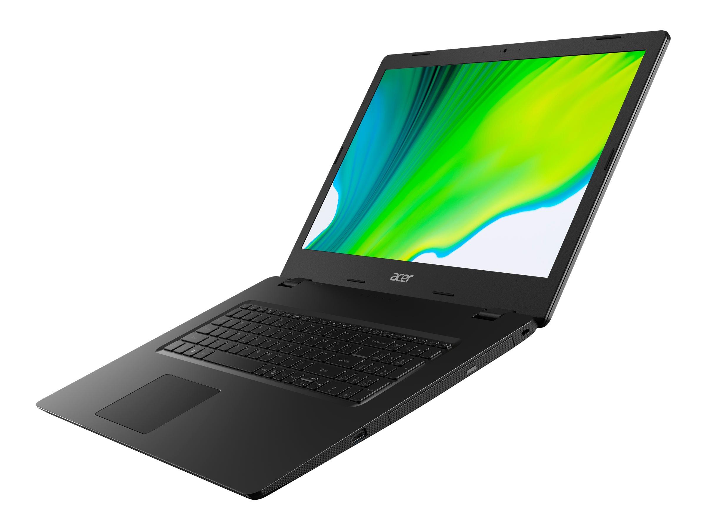 "Acer Aspire 3 A317-52-3273 - Core i3 1005G1 / 1.2 GHz - Win 10 Pro 64-Bit - 8 GB RAM - 256 GB SSD NVMe - DVD-Writer - 43.94 cm (17.3"")"