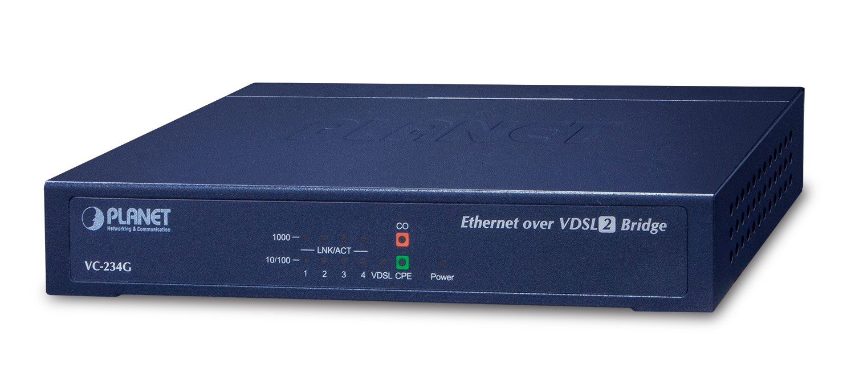 Planet VC-234G - Netzwerkbrücke - 1000 Mbit/s - Eingebauter Ethernet-Anschluss - Blau