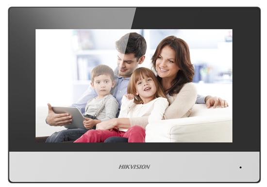 Hikvision DS-KH6320-WTE2 - 17,8 cm (7 Zoll) - LCD/TFT - 1024 x 600 Pixel - Kapazitiv - Schwarz - Grau - 802.11b,802.11g,Wi-Fi 4