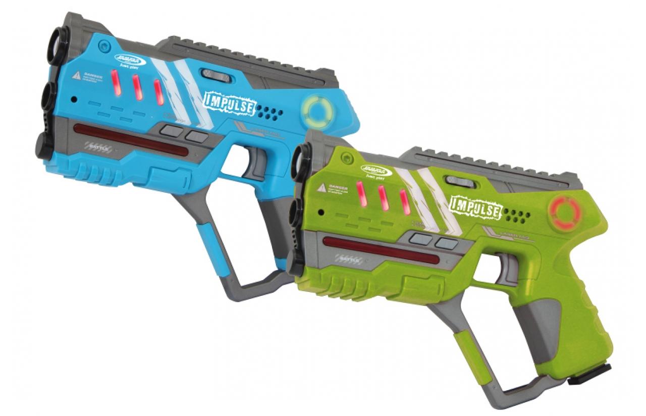 JAMARA 410086 - Spielzeugpistole - Junge/Mädchen - Blau - Grün - 2 Stück(e)