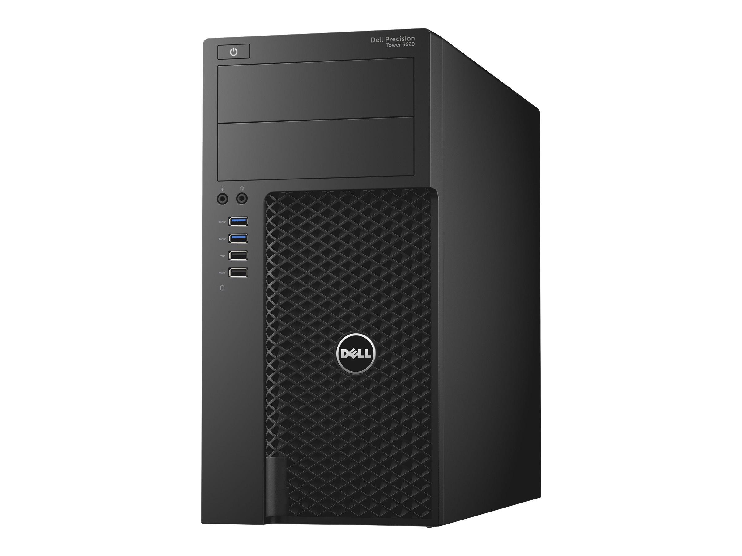 Dell Precision Tower 3620 - MT - 1 x Core i7 6700 / 3.4 GHz - RAM 8 GB - SSD 256 GB - DVD-Writer - Quadro P600 - GigE -