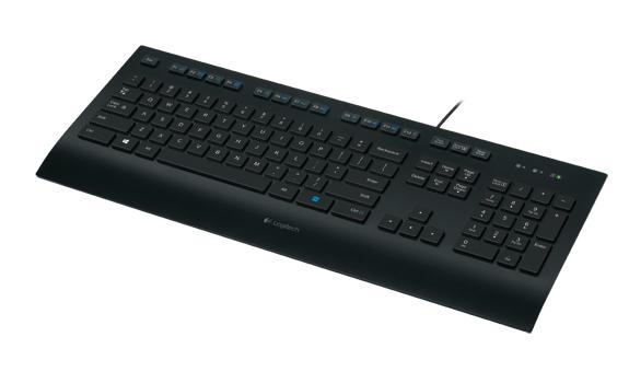 Logitech K280e USB QWERTZ Deutsch Schwarz Tastatur