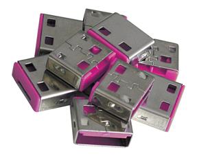 Lindy USB Port Schloss 10 Stueck OHNE Schlüssel Code ROT