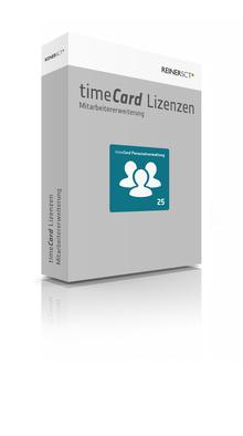 ReinerSCT Reiner SCT timeCard Personalverwaltung Erweiterung - 25 Lizenz(en)