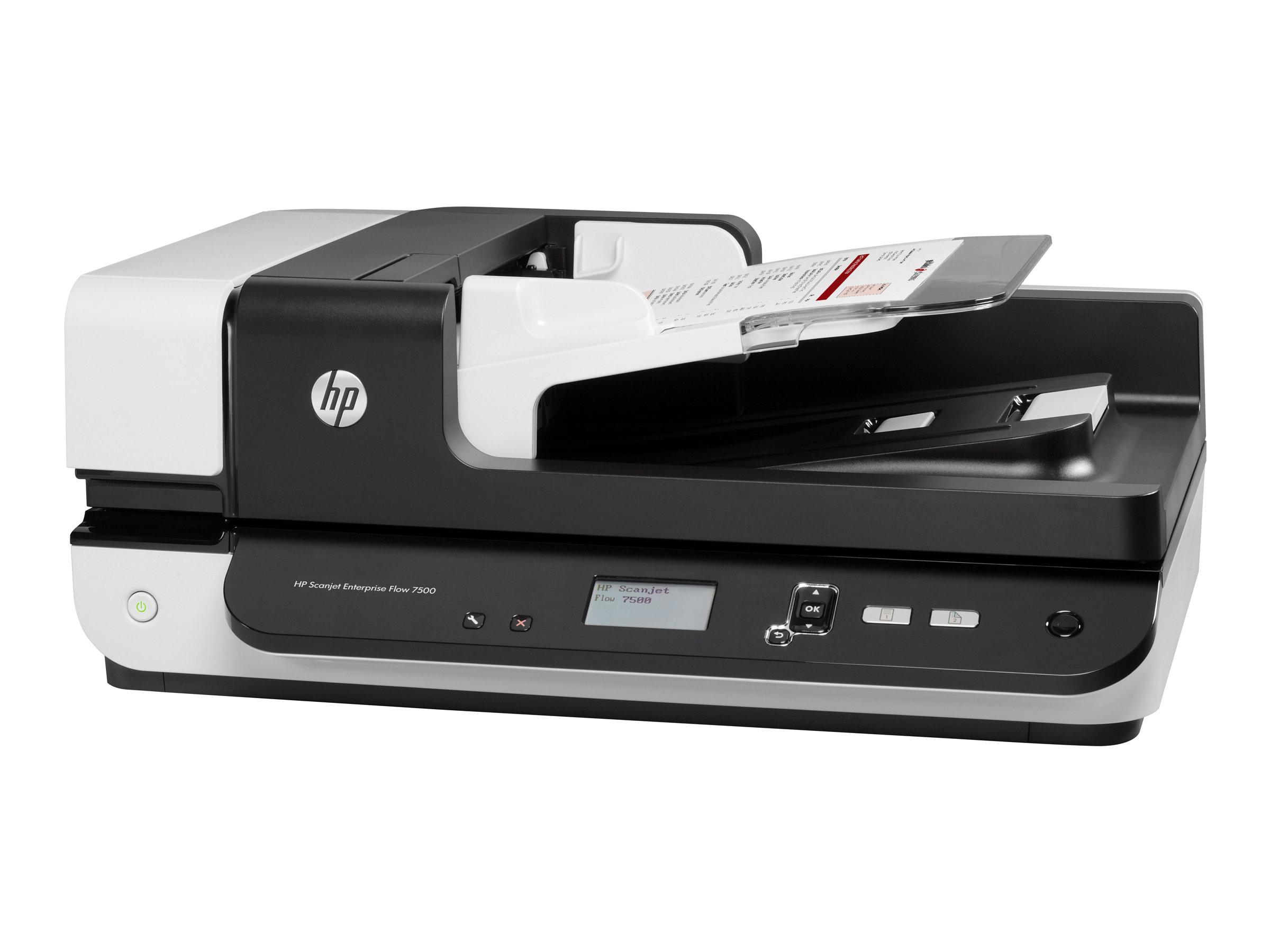 HP ScanJet Enterprise Flow 7500 - Dokumentenscanner - Duplex - 216 x 864 mm - 600 dpi x 600 dpi - bis zu 50 Seiten/Min. (einfarbig)