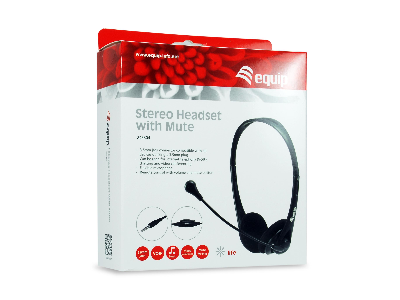 equip - Stereo-Headset - Büro/Callcenter - Binaural - Kabegebunden