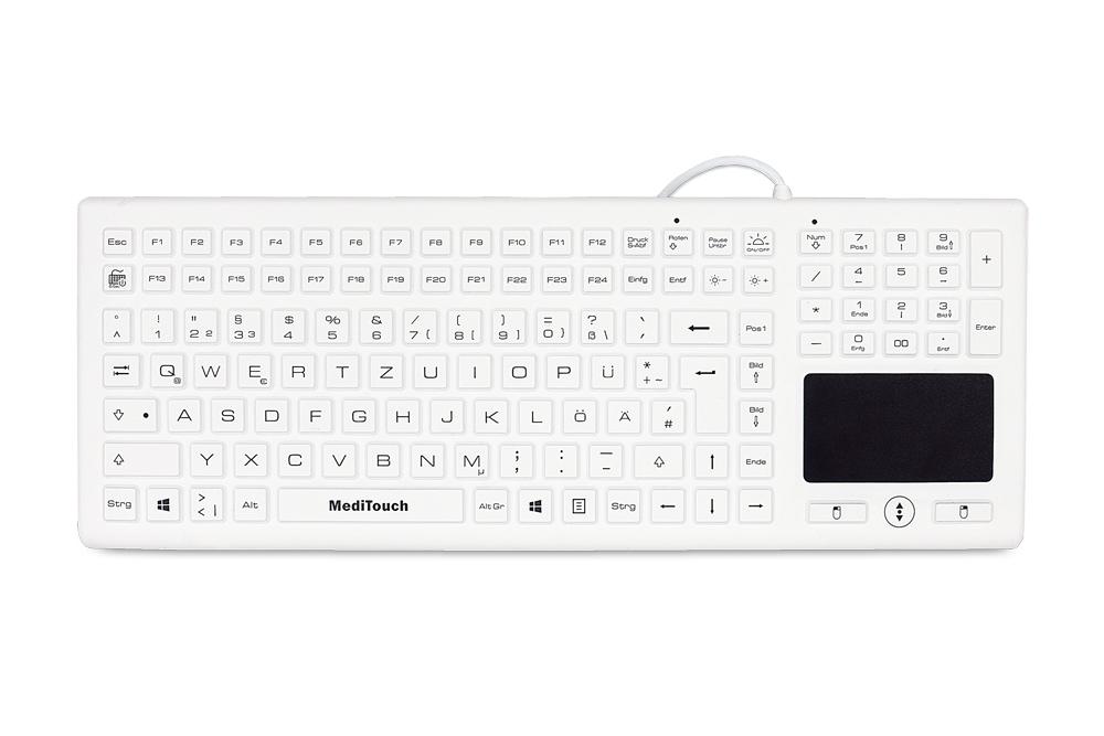 Vorschau: Baaske Meditouch BLT03 - Standard - USB - QWERTZ - Weiß